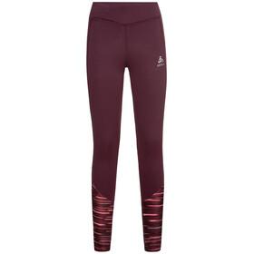 Odlo Essential Soft Print Pantaloni Donna, rosso